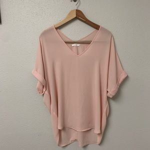Lush batwing sheer top size M